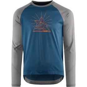 Zimtstern PureFlowz Camicia a maniche lunghe Uomo, blu/grigio